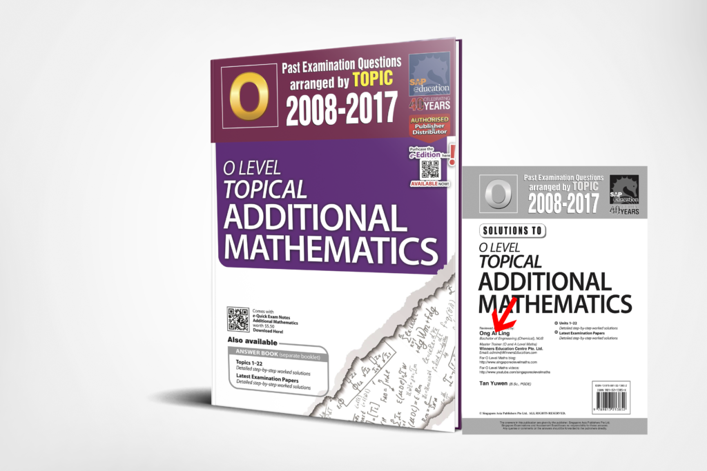 O-Level A-Maths Ten Years Series Topical 3D Edition by Ai Ling