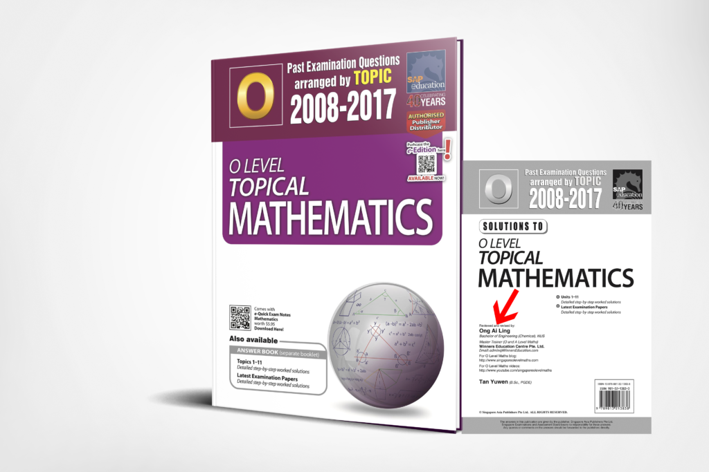 O-Level E-Maths Ten Years Series Topical 3D Edition by Ai Ling