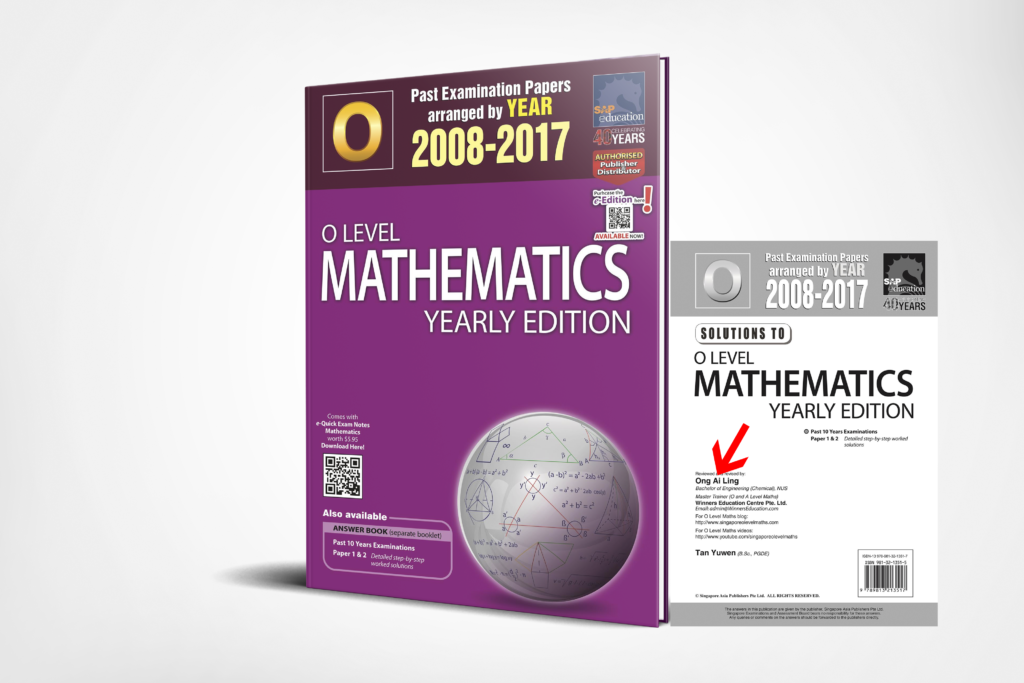 O-Level E-Maths Ten Years Series Yearly 3D Edition by Ai Ling.