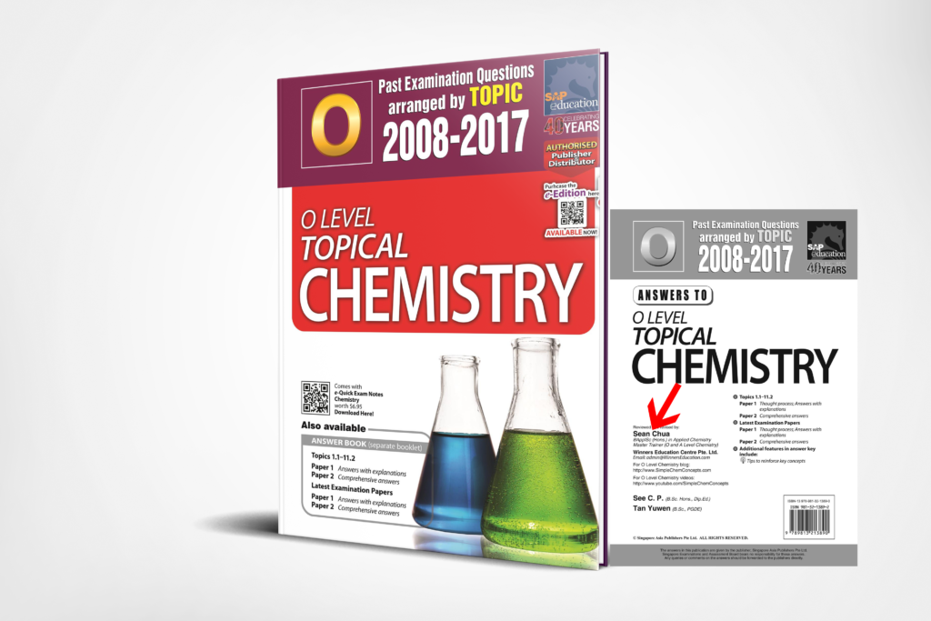 O-Level Pure Chemistry Ten Years Series Topical 3D Edition by Sean Chua