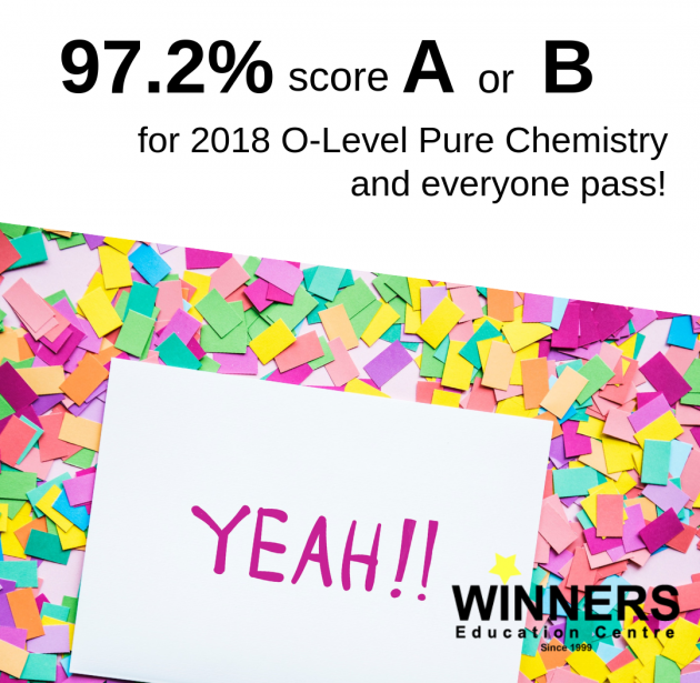 Winners Education F to A for O-Level Pure Chemistry Exam Results