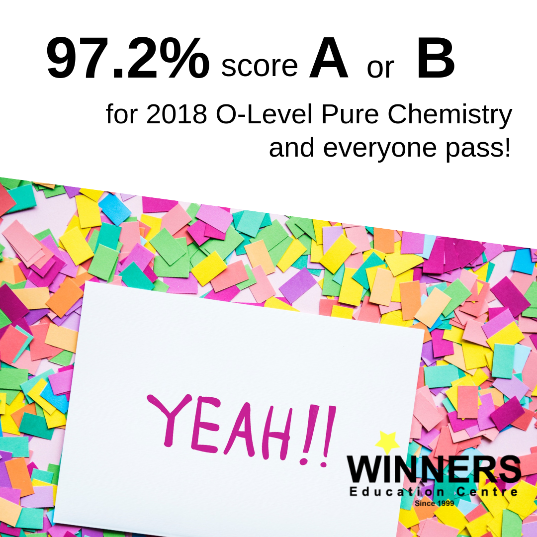 How did 97.2% of our students score A or B for their O Level Pure Chemistry exams?