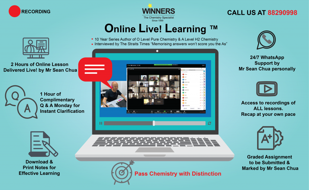 Online Chemistry Tuition for O Level Pure Chemistry, IP Chemistry, A Level H2 Chemistry